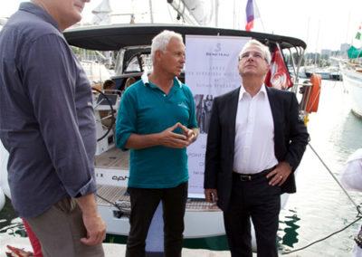 Avec la présence du Sénateur Maire d'Antibes Juan Les Pins, Mr Leonetti et son adjoint rattaché à la culture Mr Dahan.