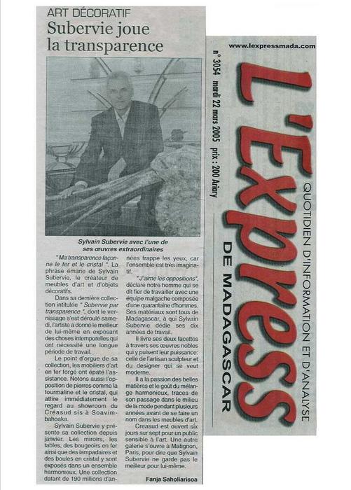 Express de Madagascar Mars 2003
