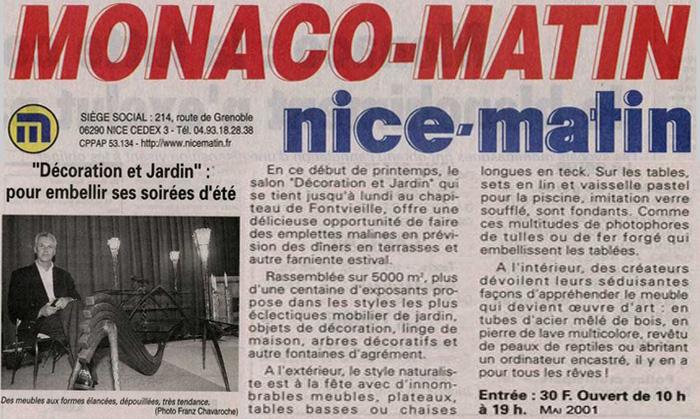 Monaco Matin Mai 20011