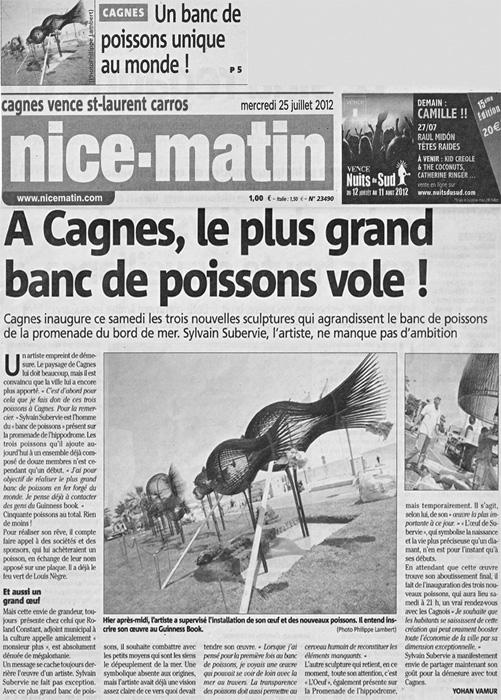 Nice Matin 25/07/2012