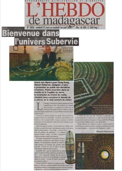 Hebdo de Madagascar Mars 2005