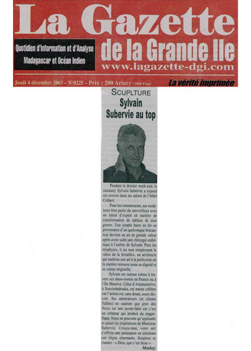 La Gazette Dec 2003