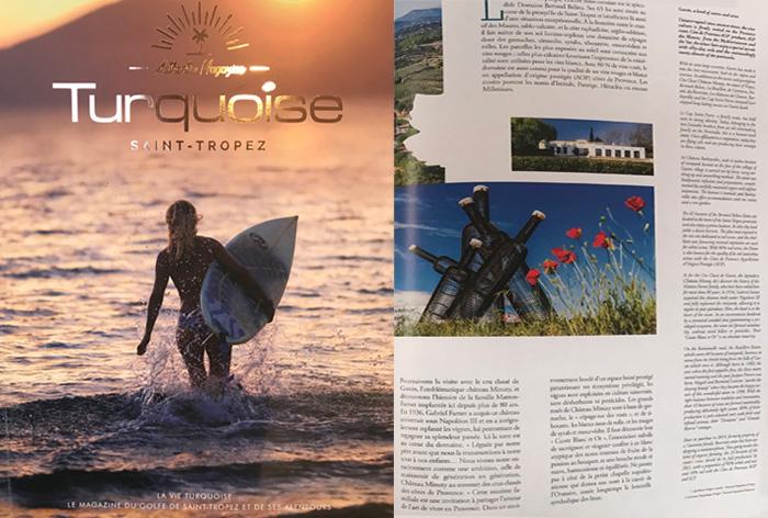 ARTICLE PRESSE MAGAZINE TURQUOISE