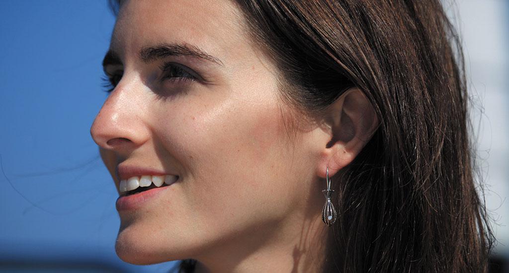 Boucle d'oreilles en or gris