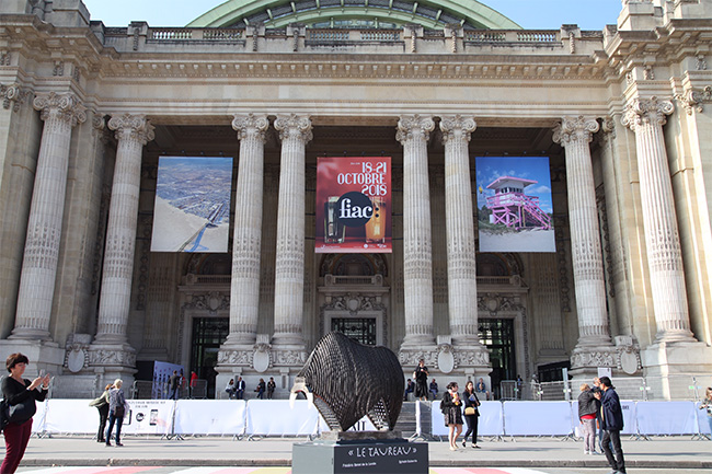 Fiac 2018, sculpture le « Taureau » en présentation , une rencontre de 2 Artistes, une oeuvre à 4 mains…